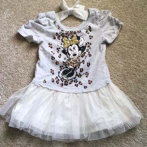 Minnie Mouse glitter tutu dress